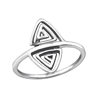 Triangle - 925 Sterling Silver Plain Rings - W32287X
