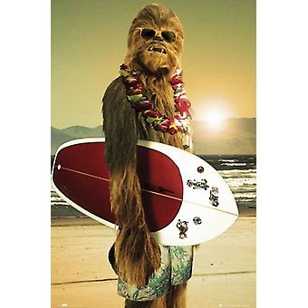 Star Wars Chewbacca Chewbacca - Surf Board Poster Poster Print