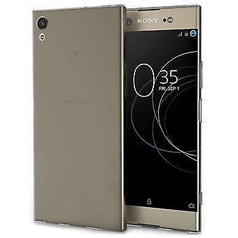 Sony Xperia XA1 Plus Ultra Thin Gel Case - Smoke Black