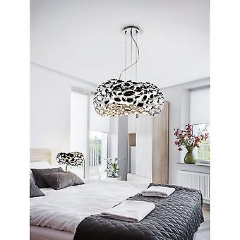 Schuller Narisa Modern Chrome Unusual Pendant Light Fixture, 5 Light, 47cm