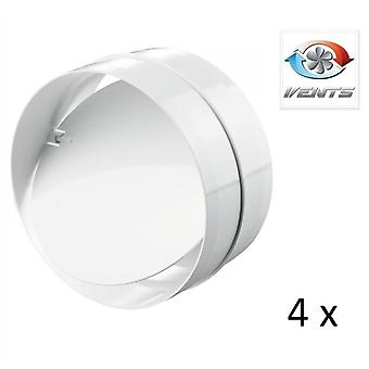 Backdraft-Shutter / Koppler - für Schächte - Fans (4 Stück) - 100mm 4'' Runde PVC - Vent - hintere Entwurf