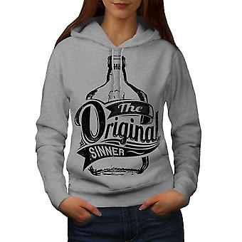 Unique Sinner Funny Women GreyHoodie | Wellcoda
