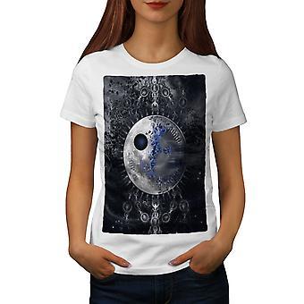 Ruimte van abstracte Fantasy vrouwen wit-shirt | Wellcoda