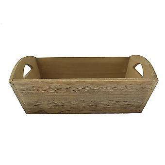 Oak Effect Small Wooden Storage Tray