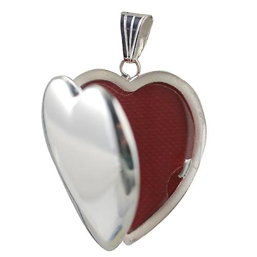 Silver 30x28mm handmade heart shaped Locket