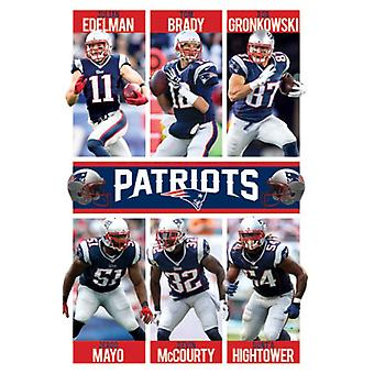 New England Patriots - Team 15 Poster Print