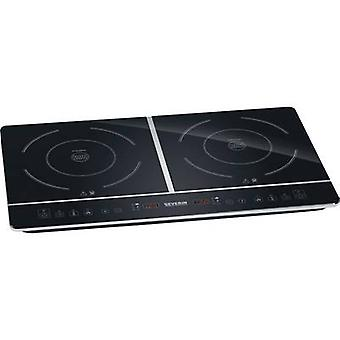 Twin induction hob with pot size recognition, Timer fuction Severin DK 1031