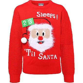 Christmas Boys & Girls 3D Countdown Santa Festive Sweater Jumper