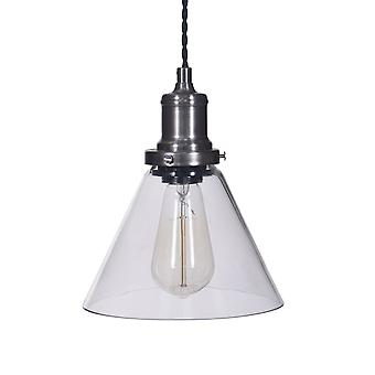 Garden Trading Hoxton Cone Glass Pendant Light