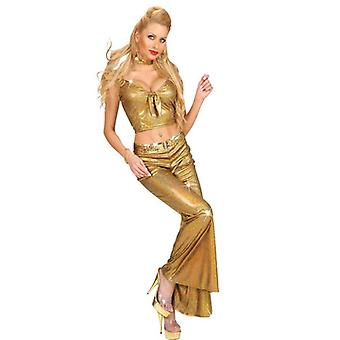 WOMAN SIZE GOLD HOLOGRAPHIC SEQUIN PANTS