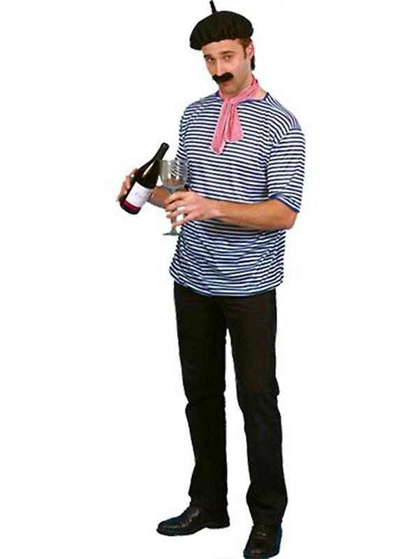 Fransk Man Set - t-skjorte - Beret - skjerf & Tash sett i Frankrike