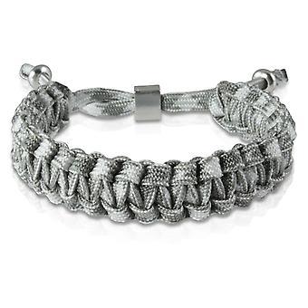 Gevlochten armband armband armband gevlochten nylon Grau Silber 7175 schipper