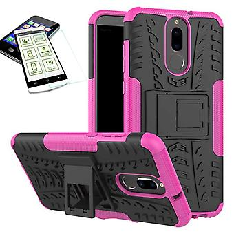 Hybrid 2 piece SWL case Pink for Huawei mate 10 Lite + tempered glass bag case cover