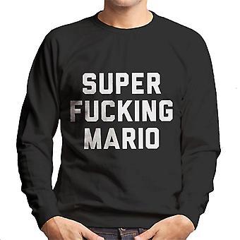 Super Mario Herren Sweatshirt ficken