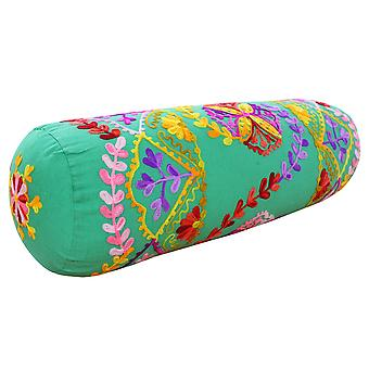 Riva Home Turin Floral Pattern Cylinder Cushion Cover
