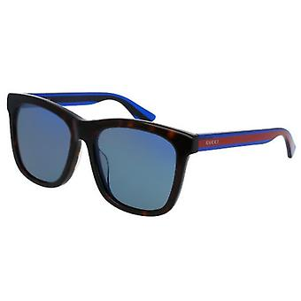 Gucci Havana Blue Ladies Sunglasses - GG0057SK-004