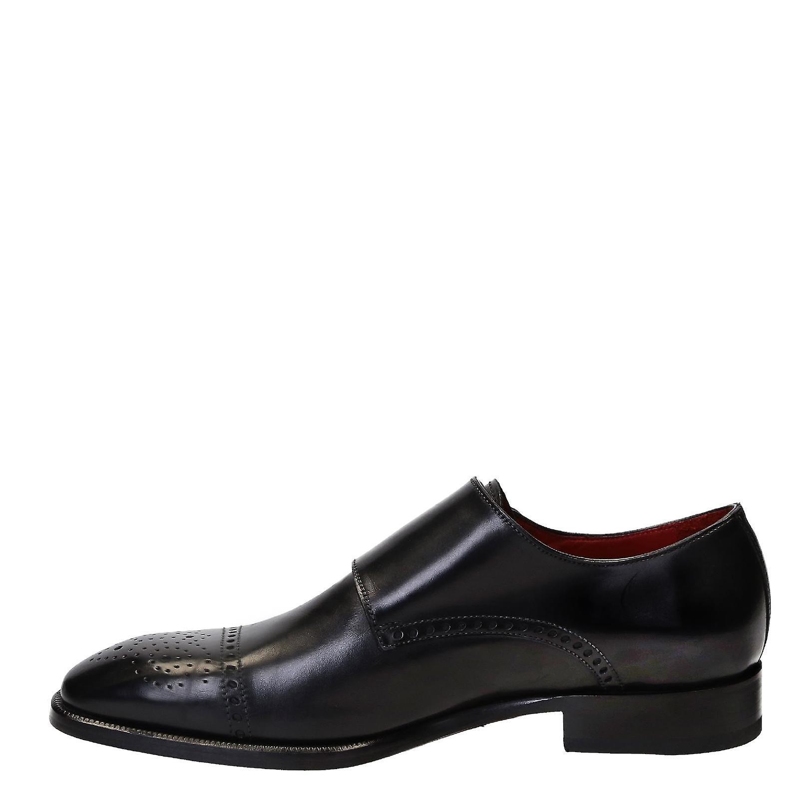 pelle nera uomini a tripla monk le scarpe scarpe scarpe   Varietà Grande    Vendita    Qualità In Primo Luogo    Sig/Sig Ra Scarpa  6e7e43