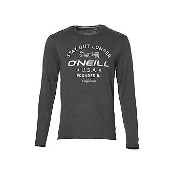 O'Neill LM Stay Out Longer Long-Sleeve T-Shirt, Dark Grey Melee