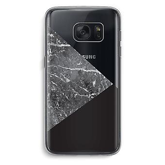Samsung Galaxy S7 Transparent fodral (Soft) - marmor kombination