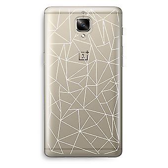 OnePlus 3T Transparent Case (Soft) - Geometric lines white