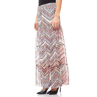 B.C.. best connections romantic flowing colorful print skirt