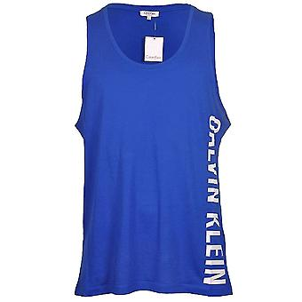 Calvin Klein Intense Power Swimwear Tank Top, Blue, Small