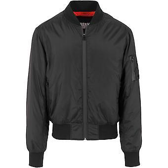 Urban classics men's bomber jacket tech zip