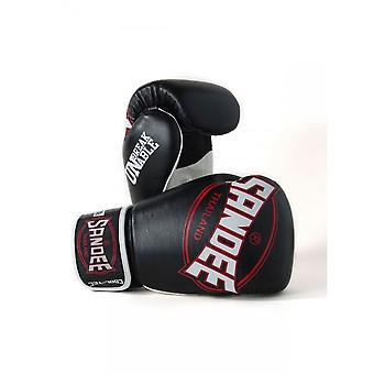 Sandee Cool-Tec Muay Thai Boxing Gloves - Black