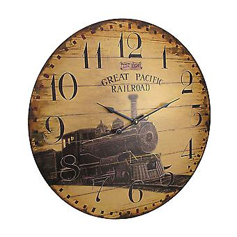 23 Inch Diameter Great Pacific Railroad Wall Clock