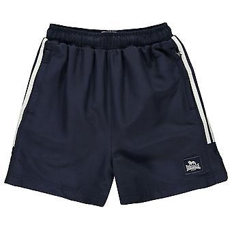 Lonsdale Kids Boys 2 Stripe Woven Shorts Junior Pants Trousers Bottoms