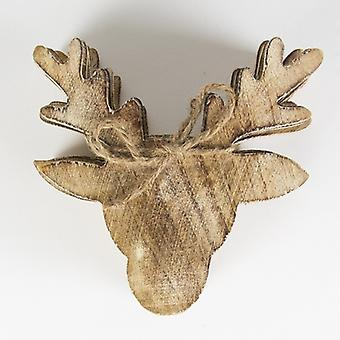 Sass & Belle Set of 6 Wooden Stags Head Coasters