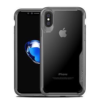 IPAKY iPhone X TPU Hybrid Shell-grå