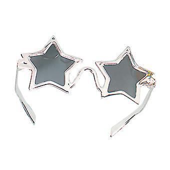Gafas estrella de plata.