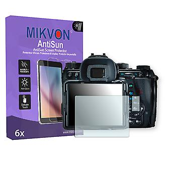 Ricoh Pentax K-1 Screen Protector - Mikvon AntiSun (Retail Package with accessories)