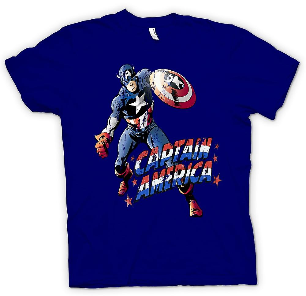 Mens t-skjorte - Captain America - komiske Hero