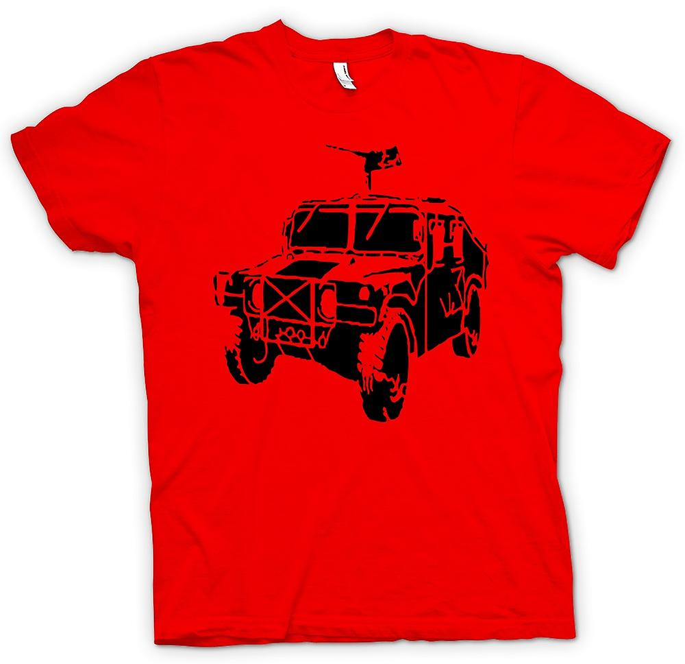 Mens T-shirt - US Army Humvee 50 Cal - Military