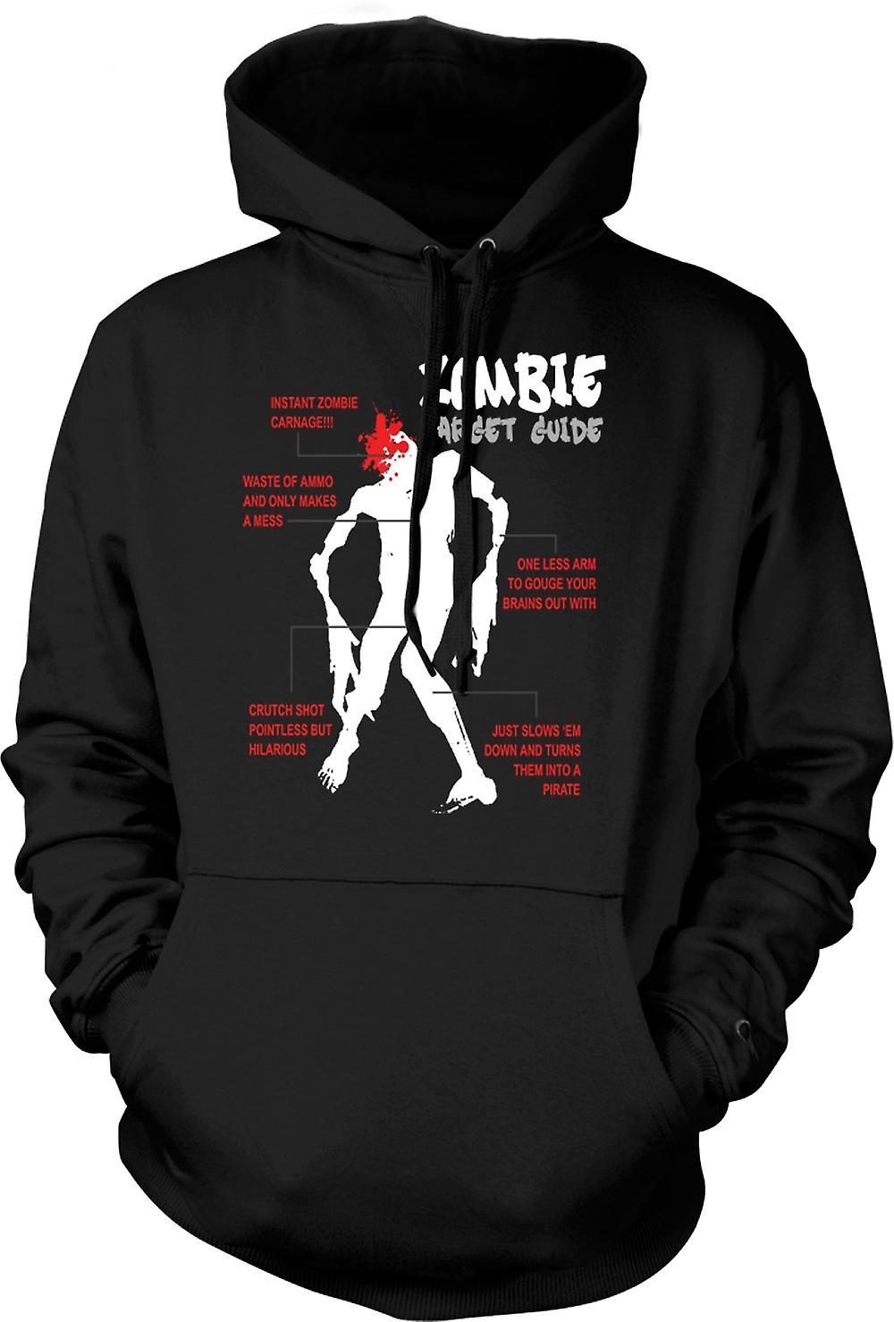 Mens Hoodie - Zombie mål Guide - rolig