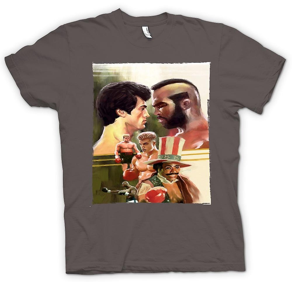 Womens T-shirt Boxing - Rocky - Film - Collage