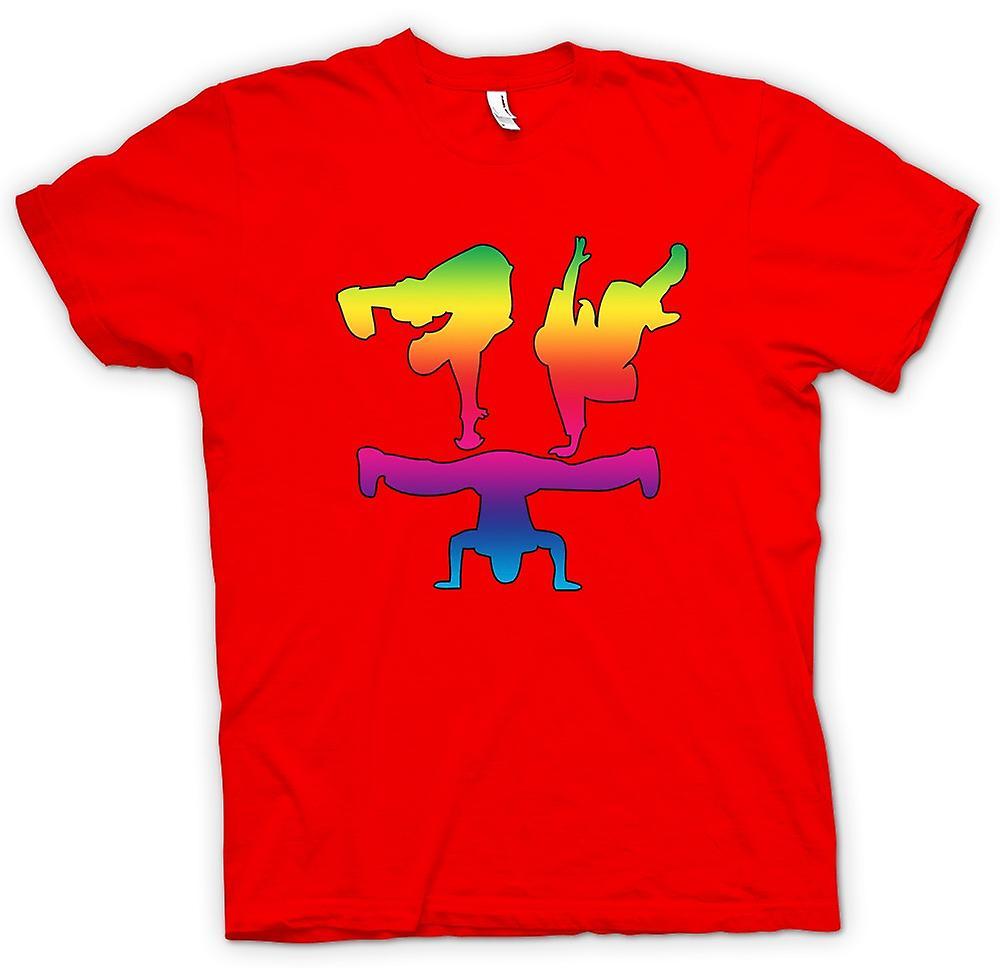 Mens t-skjorte - pause dansetrinn - Rainbow