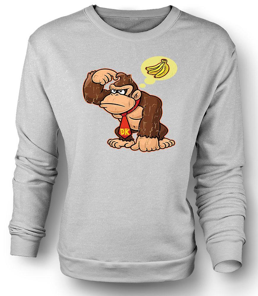 Mens Sweatshirt Donkey Kong Bananas - Gamer