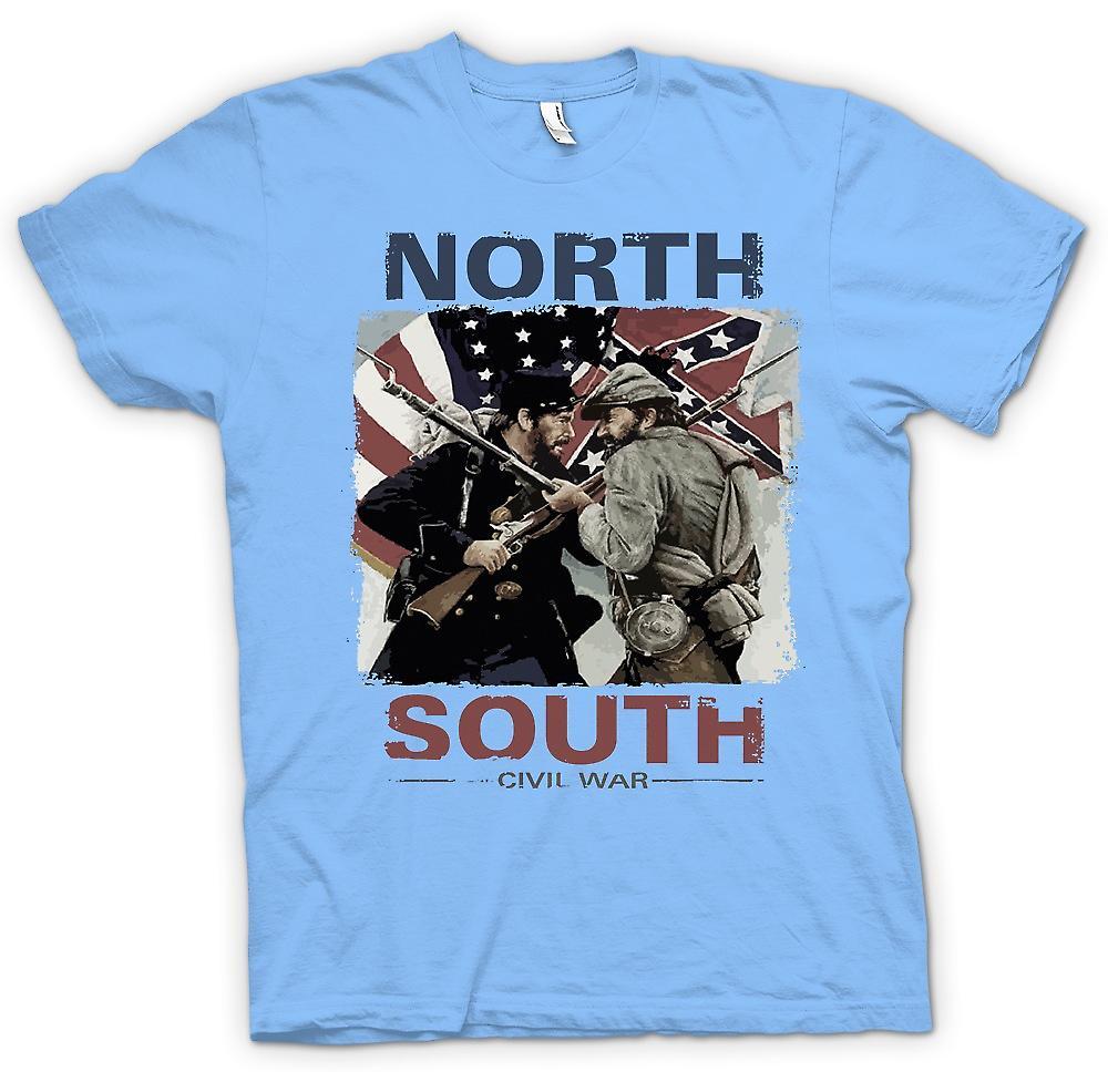 Mens t-skjorte - nord sør borgerkrigen - amerikanske borgerkrigen