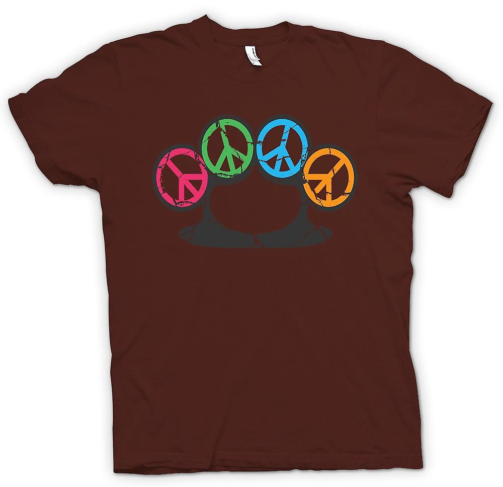 Mens T-shirt - Peace Knuckle Duster - Weapon Of Peace