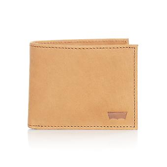 Levis Medium Brown Sueded Batwing Bifold Wallet