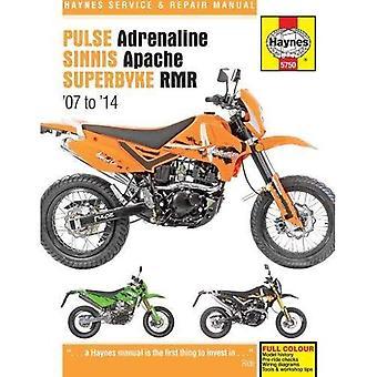 Pulse/Pioneer Adrenaline, Sinnis Apache & Superbyke RMR Service & Repair Manual 2007-2014 (Haynes Service and Repair Manuals)