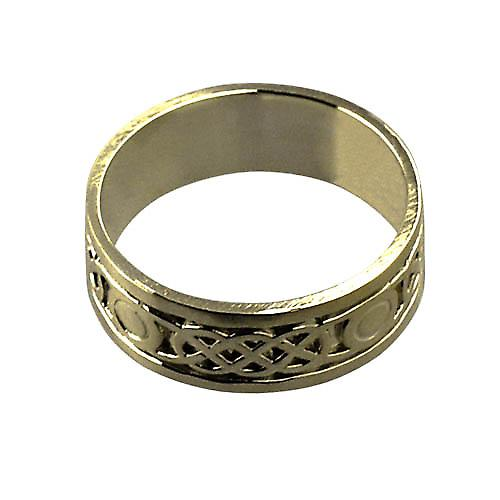 18ct Gold 8mm Celtic Wedding Ring Size Z