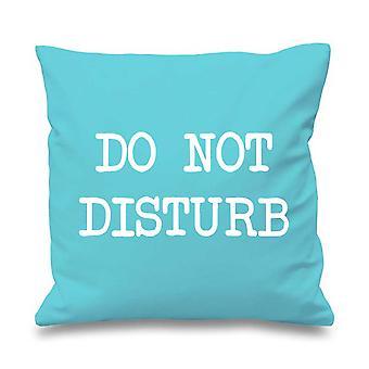 Aqua Cushion Cover Do Not Disturb 16