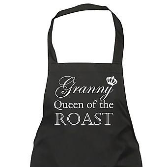 La abuela Reina del asado negro delantal