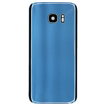 Coral blå bak Glass Cover For Samsung Galaxy S7 kant