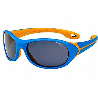 Cebe Simba 5 to 7 Yrs Junior Sunglasses (Blue Orange Frame 1500 Grey Blue Light Lens)