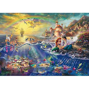 Schmidt Kinkade: Disney The Little Mermaid Jigsaw Puzzle (1000 pieces)